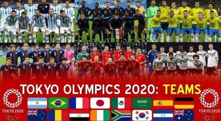 bóng đá nam olympic tokyo